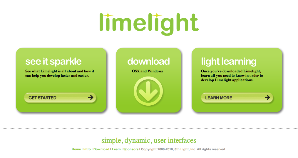 Limelight Front Page