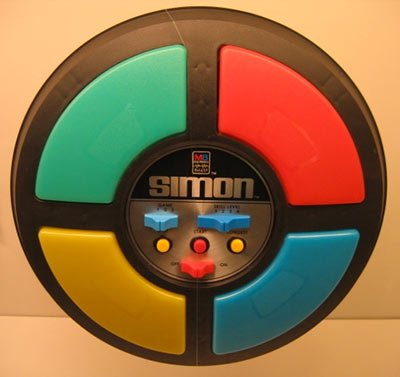 The classic Simon game