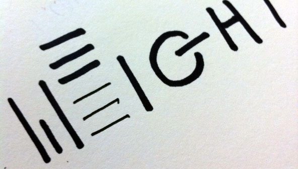 A concept sketch for my 'Weightless' with a floating letter E.