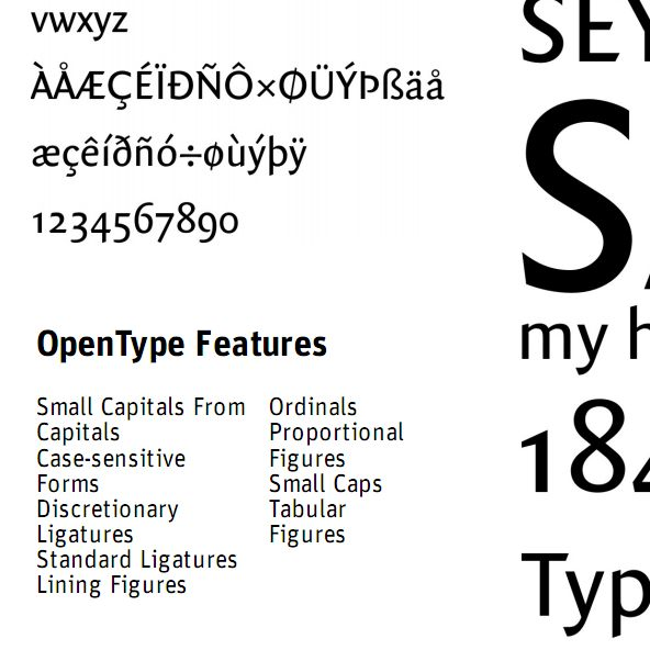 High quality typefaces contain many features that are generally omitted from free fonts.