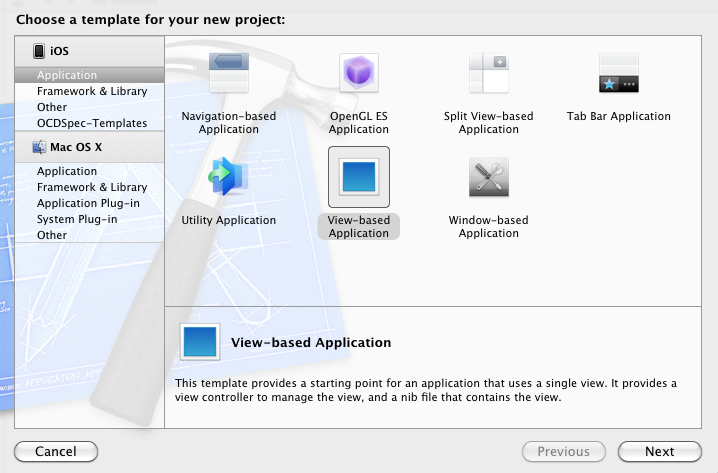iOS Application Project Templates