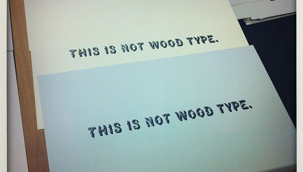 This is not Wood Type, by Maggie Moore and Spencer Syfrig