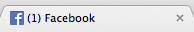 Facebook browser tab